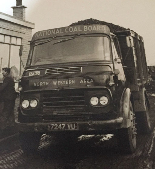 Last domestic coal wagon leaving astley green 1970 - Driver L Mullaly - photo Kath Guest